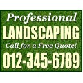 Landscaping Sign Templates