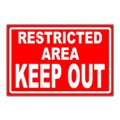 Restricted Safety Sign Templates