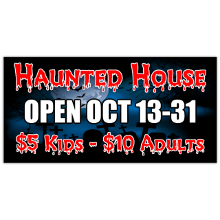 Haunted House 101 Halloween Banner Templates Templates