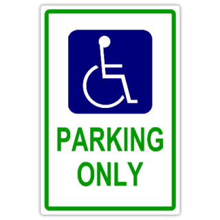 Handicap parking 101 handicap parking sign templates for Handicap parking sign template
