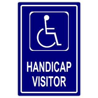 Handicap visitor handicap parking sign templates for Handicap parking sign template