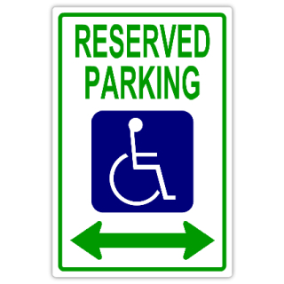 reserved signs templates