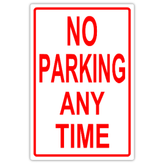 No parking 106 tow away parking sign templates for No parking signs template
