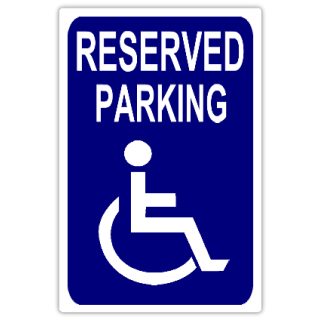 Reserved Parking 108 Handicap Parking Sign Templates Templates