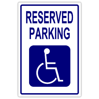 Reserved parking 109 handicap parking sign templates for Handicap parking sign template