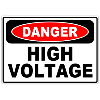 Danger High Voltage 101 Danger Safety Sign Templates
