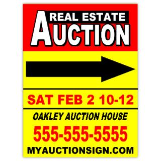auction 110 auction sign templates. Black Bedroom Furniture Sets. Home Design Ideas