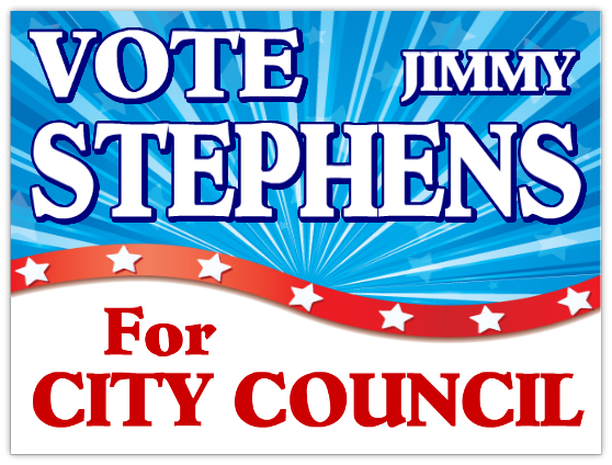 City Council Campaign Signs
