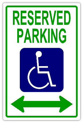 Reserved parking 106 handicap parking sign templates for Handicap parking sign template
