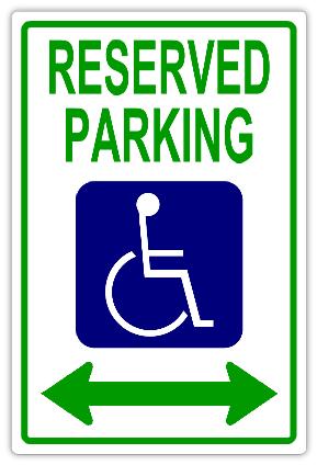 handicap parking sign template - reserved parking 106 handicap parking sign templates