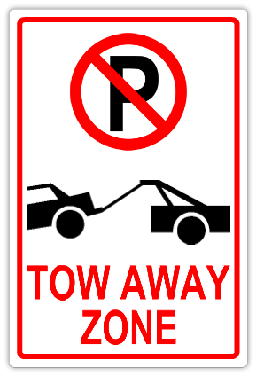 Tow Away Zone 101 Tow Away Parking Sign Templates