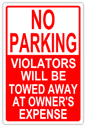 No parking 102 tow away parking sign templates for No parking signs template