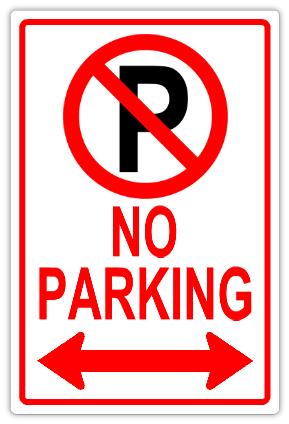no parking signs template - no parking 112 tow away parking sign templates
