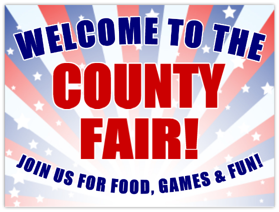 County Fair Signs Festival Advertising Sign