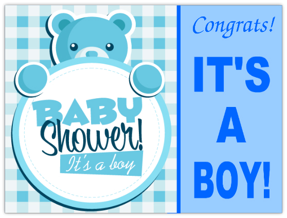Its A Boy Sign 102 Baby Shower Sign Templates Templates Click