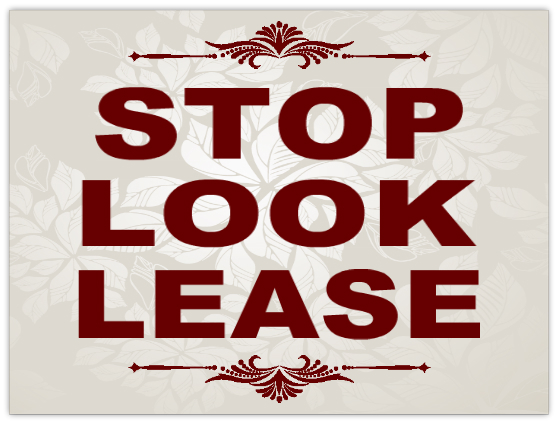 Stop Look Lease Sign 101 Apartment Sign Templates