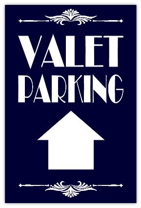 Valet Parking Sidewalk Sign 102 Parking Sidewalk Sign