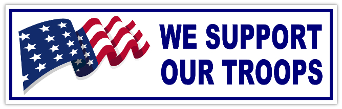 We Support Our Troops Sticker 101 Military Bumper