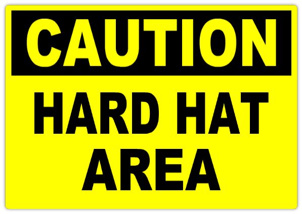 caution hard hat area 101 caution safety sign templates templates click on a category below. Black Bedroom Furniture Sets. Home Design Ideas
