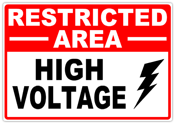 Restricted High Voltage 101 Restricted Safety Sign