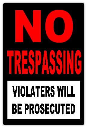 No Trespassing 108 No Trespassing Sign Templates