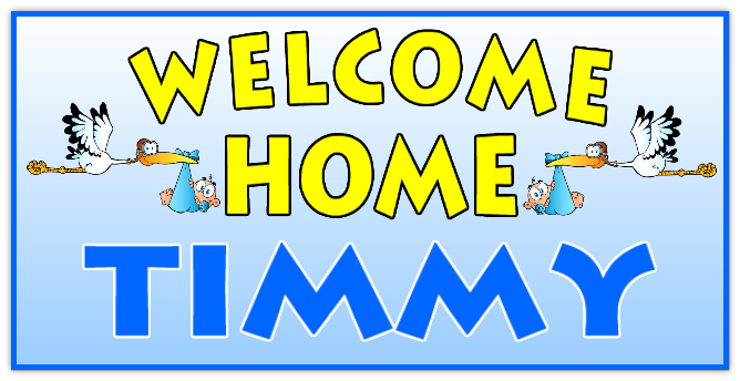WELCOME HOME BANNER 108   Welcome Home Banner Templates ...