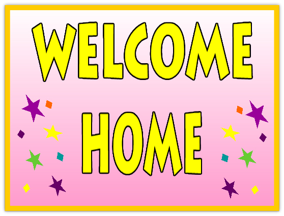 Resource image regarding welcome home sign printable