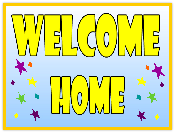 Superb image for welcome home sign printable