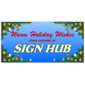 Warm Holiday Wishes Banner