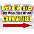 Tax Refund Sign 101