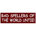 Spellers Untie Bumper Sticker