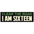 I Am Sixteen Bumper Sticker