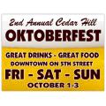 Oktober Fest Sign 101