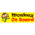 Monkey on Board Sticker 101
