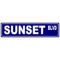 Sunset Street Sign