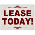 Lease Today Sign 101