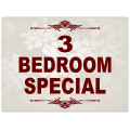 3 Bedroom Special Sign 101