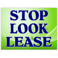 Stop Look Lease Sign 102