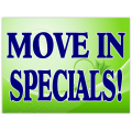 Move In Specials Sign 102