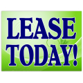 Lease Today Sign 102