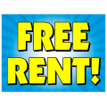 Free Rent Sign 103