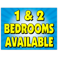 1 and 2 Bedrooms Sign 103