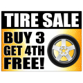 Tire Sale Sign 102