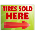 Tires Sold Sign 101