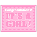 It's A Girl Sign 104