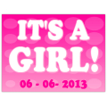 It's A Girl Sign 106