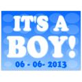It's A Boy Sign 105