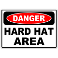 Danger Hard Hat Area 101