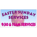 Easter Sunday Service Banner 105