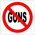 Anti Guns Sticker 101